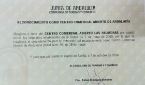 Certificado CCA Las Palmeras